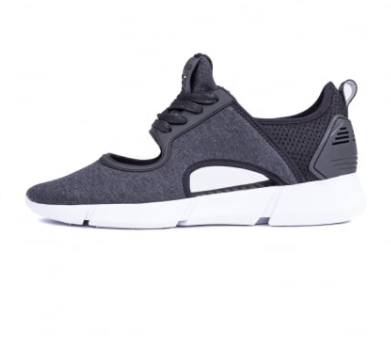 Grey trainer with cut out design