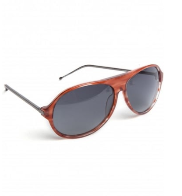 aviator sunglasses in brown