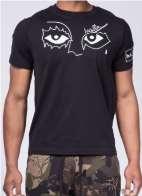 haculla top with cartoon eyes
