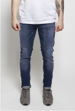 blue rolled up jeans