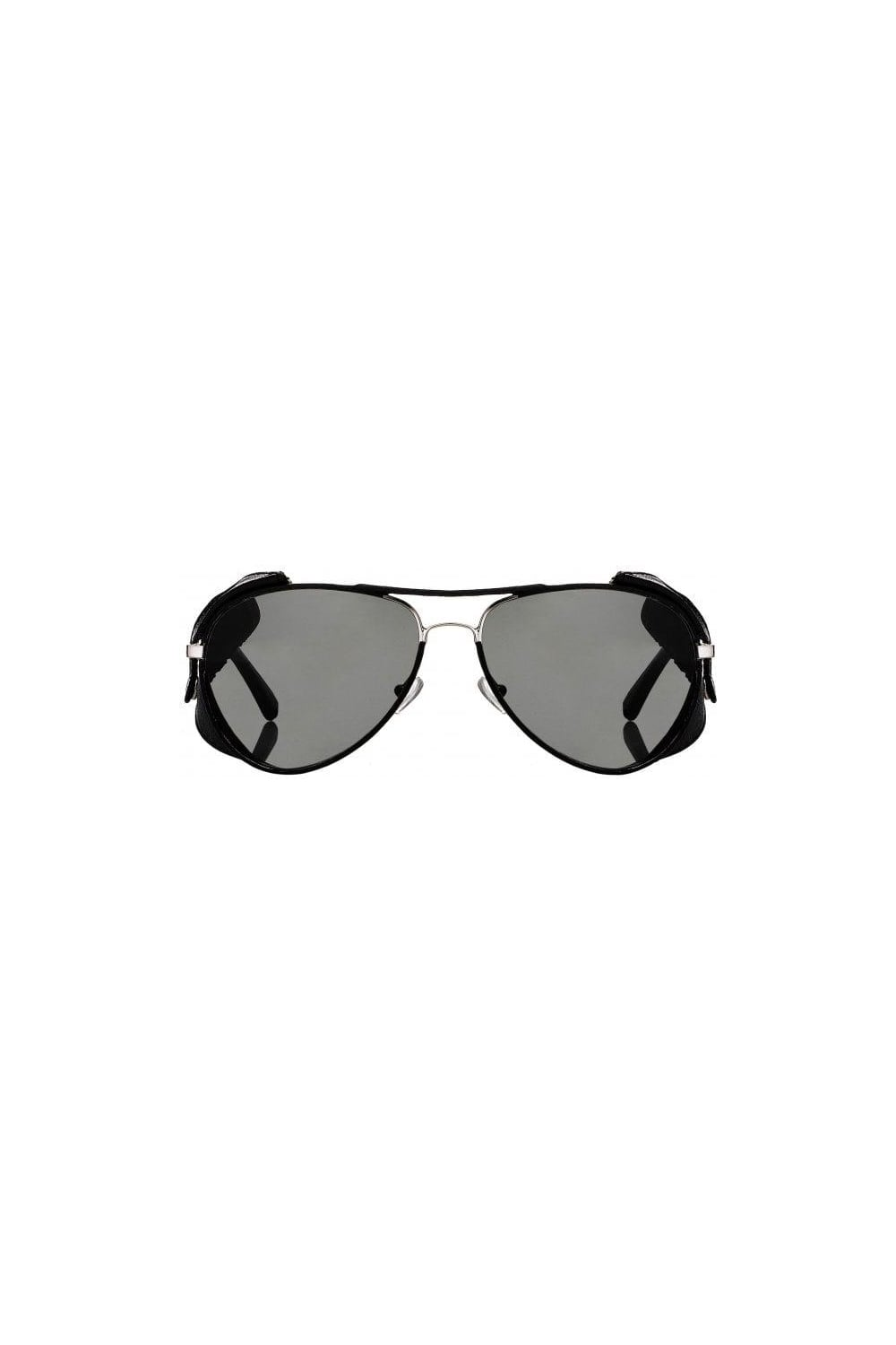 74164076c782 Linda Farrow X Veronique Branquinho Projects Shields Sunglasses in Black