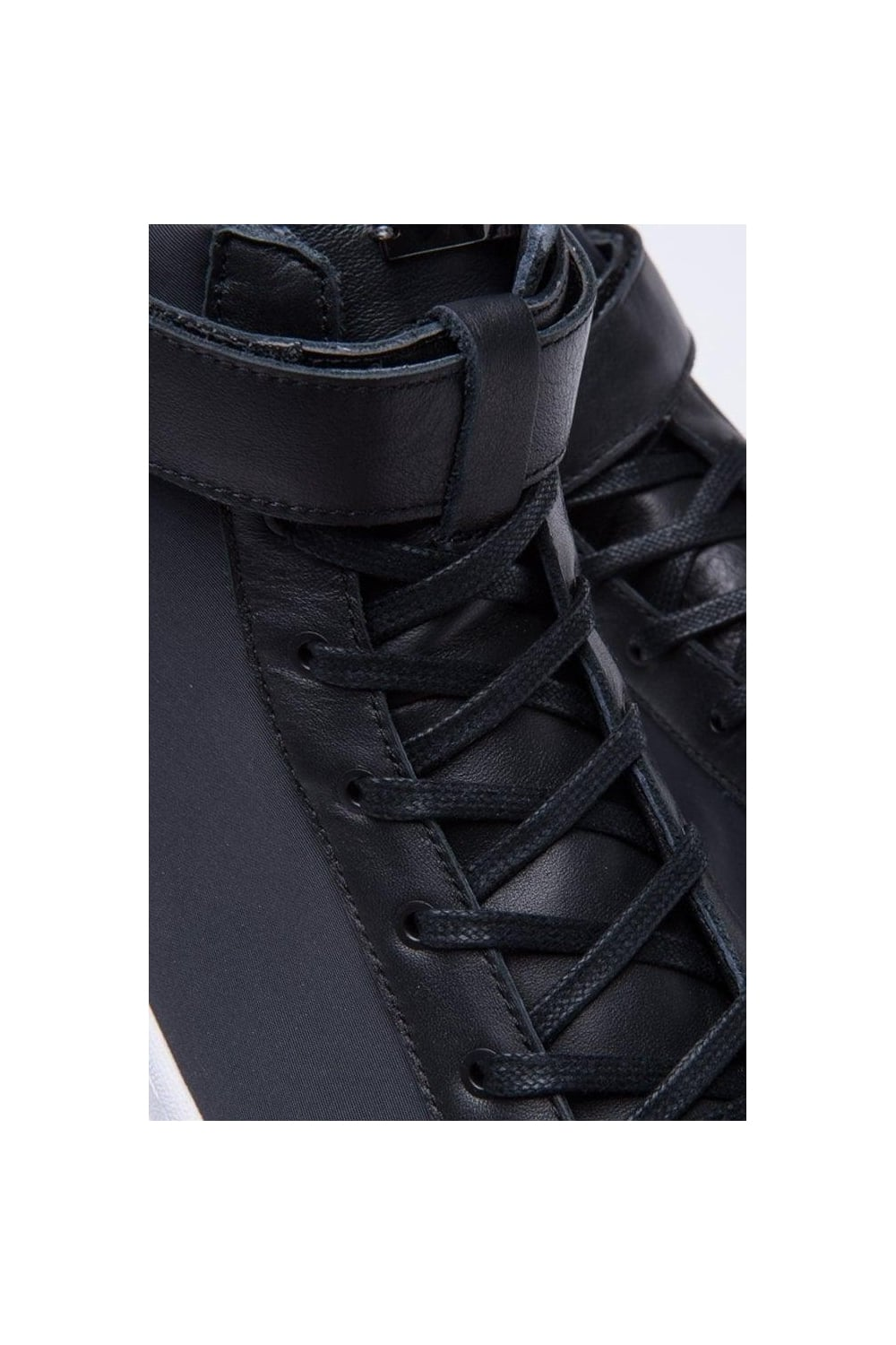 8659effc9996 SLVR Cupsole Hi Top Trainers Black