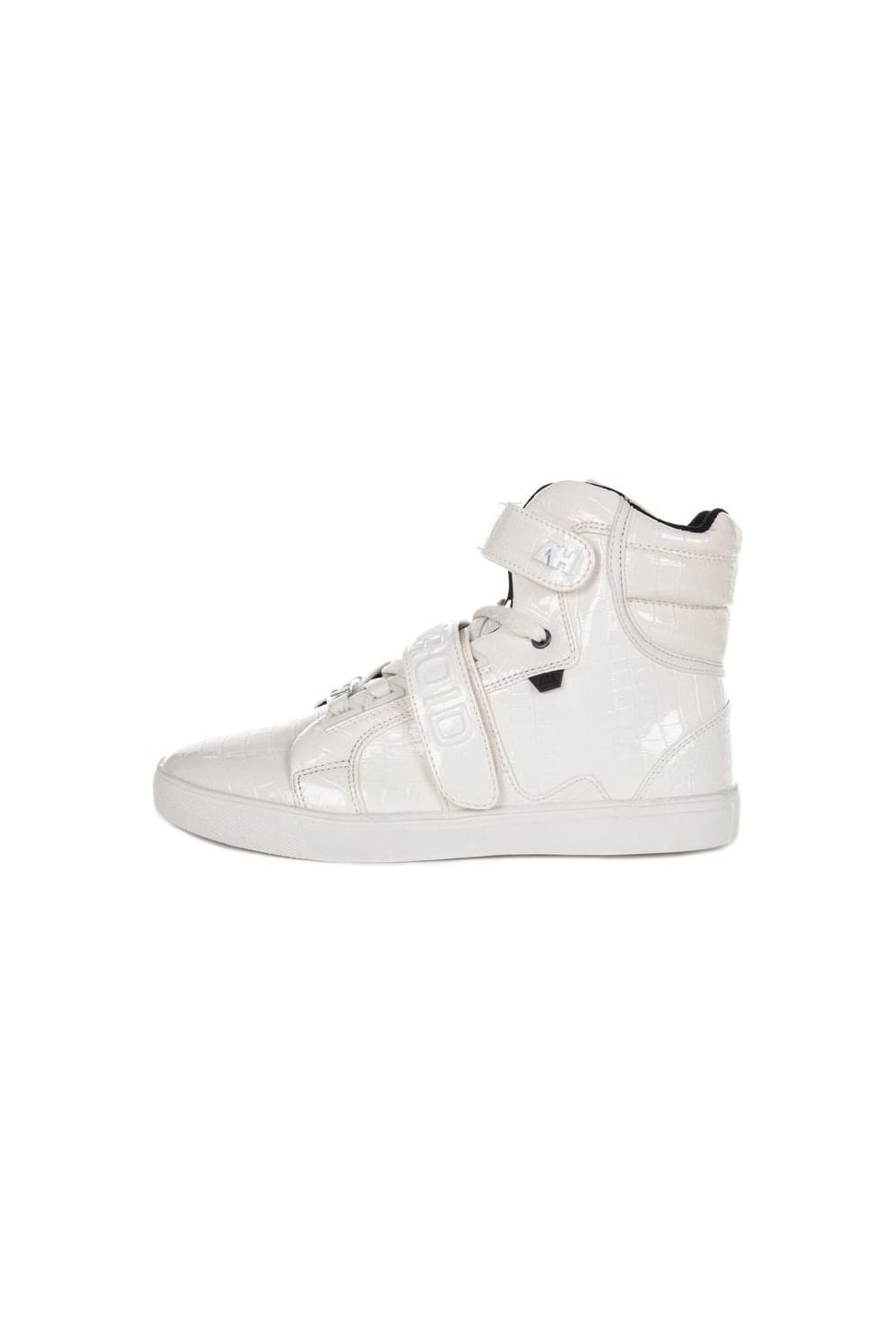 924715af0c56 AH By Android Homme Propulsion Hi Top Trainers White
