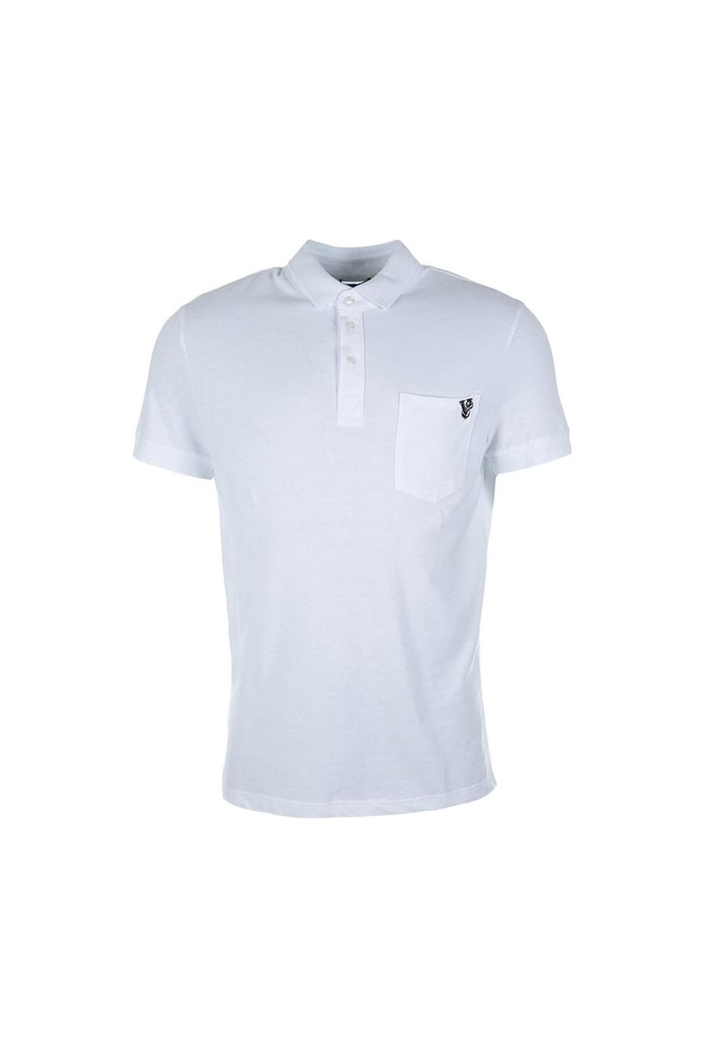23d926c60 Versace Jeans | Metal Badge Polo T-Shirt White | Intro Clothing