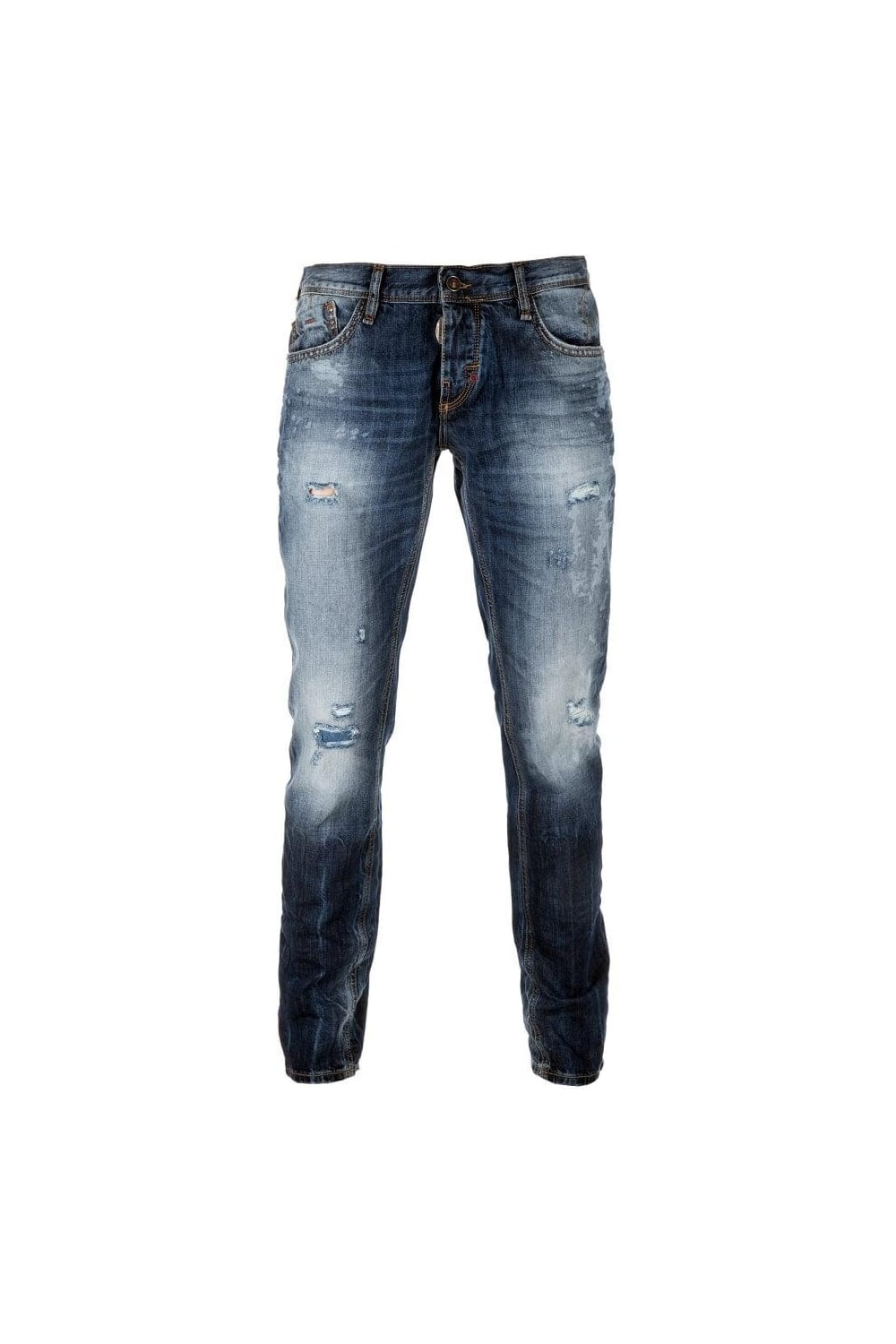 17392f02388 Antony Morato Super Slim Paint Splat Jeans Blue