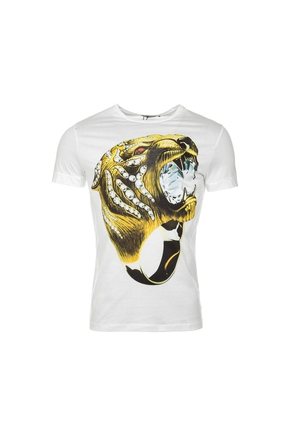 11d0502b Antony Morato | Tiger Ring Crew Neck T-Shirt White | Intro Clothing