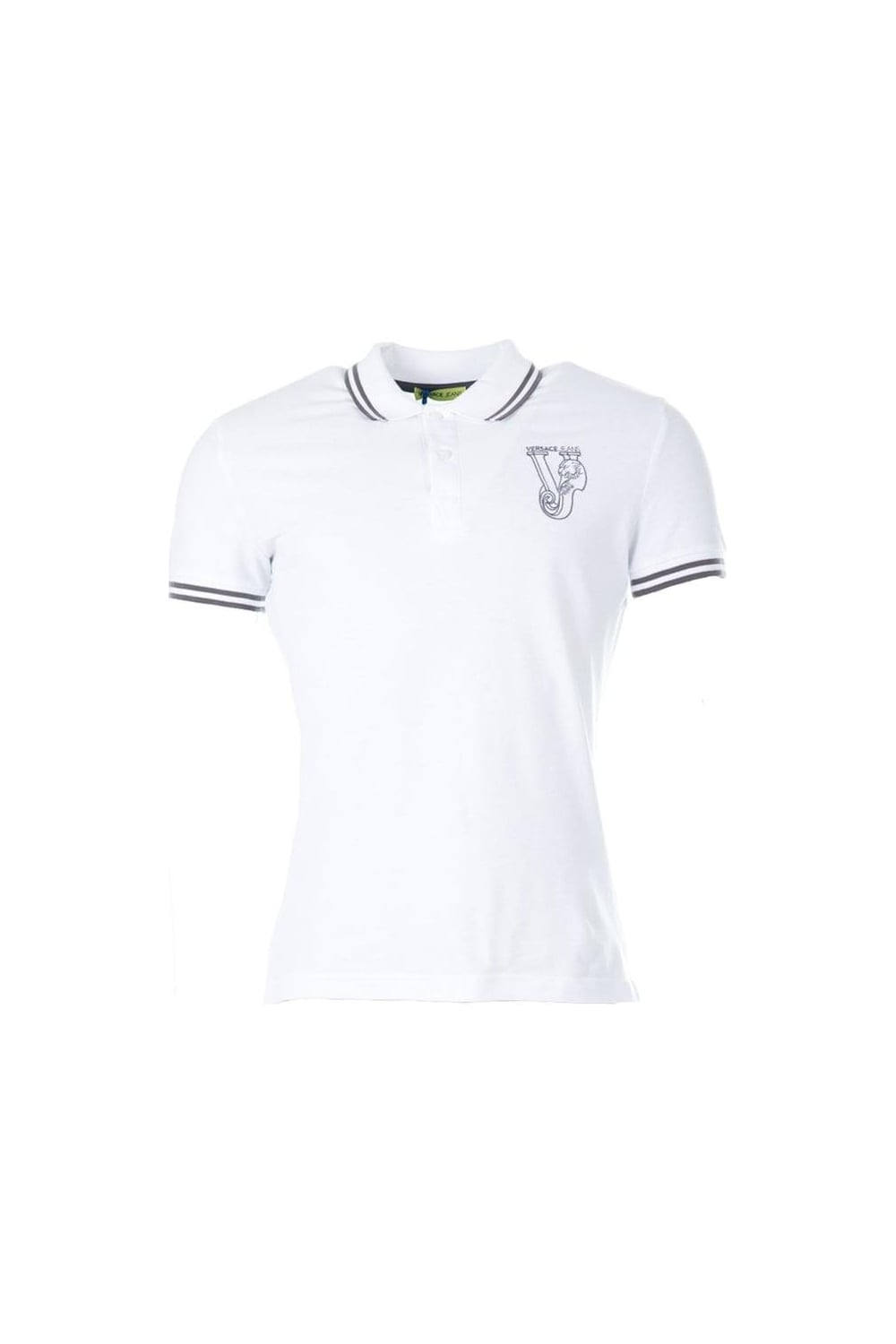 94cc702c M/C Tiger Slim Polo White