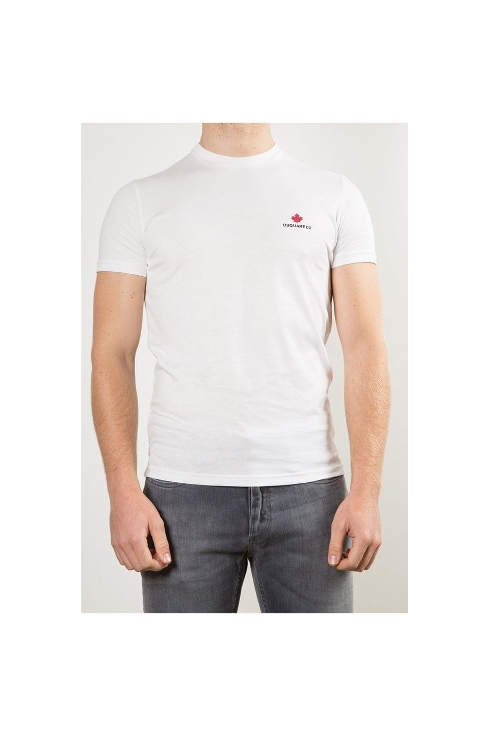 Dsquared2 Maple Leaf Crew Neck T Shirt White Intro