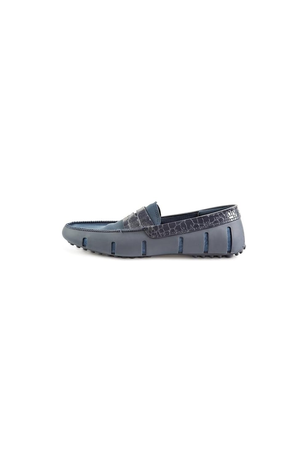 d752b32864f Swims Penny Alligator Loafers Navy