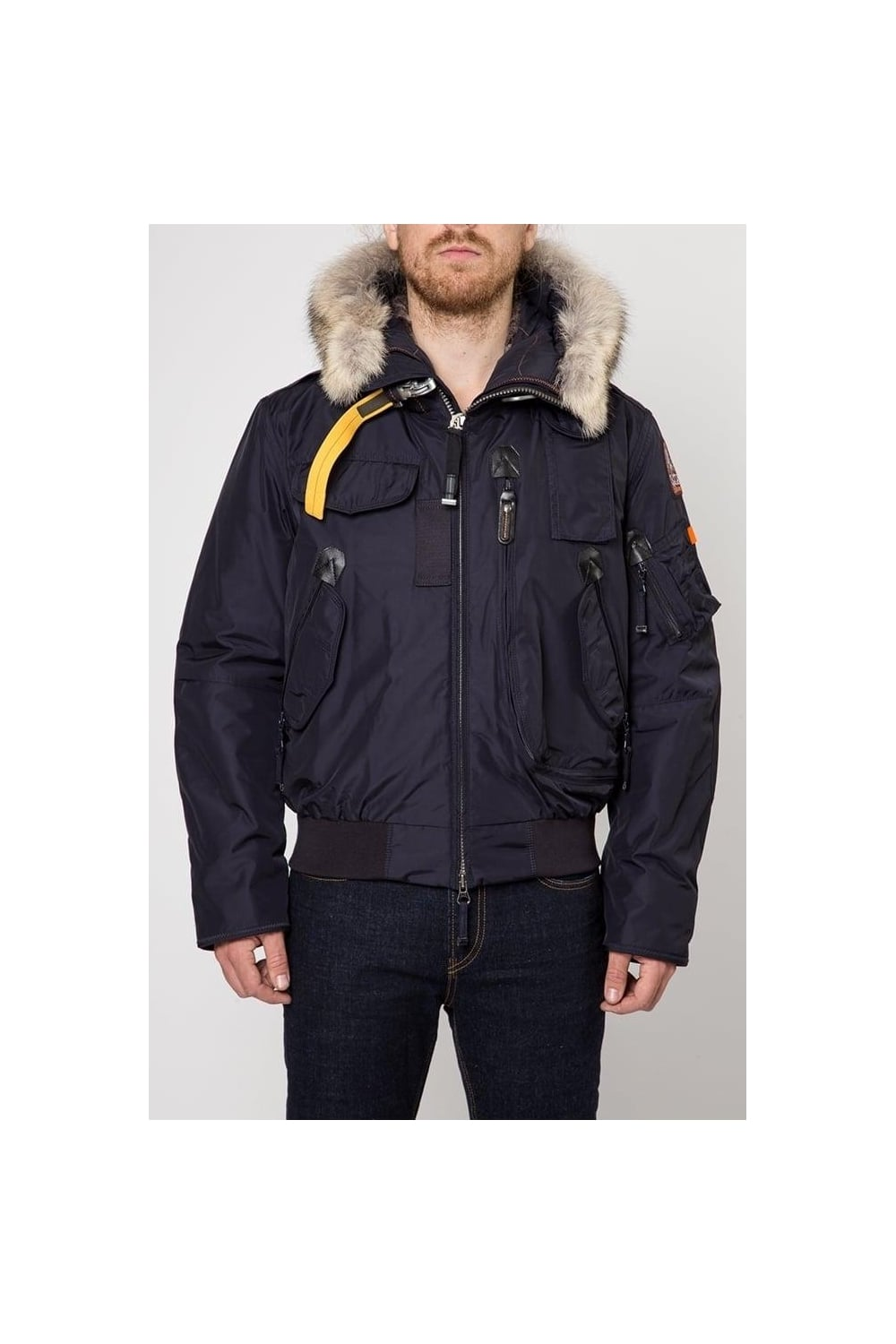 Gobi Fur Hooded Jacket Navy