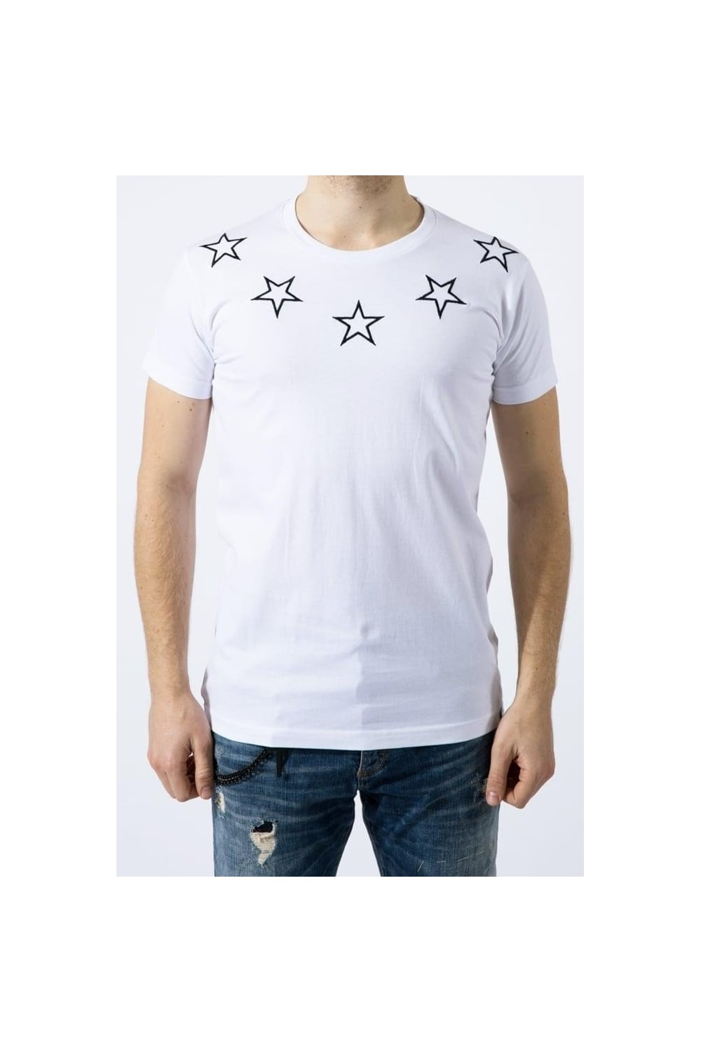abe star line t shirt white intro clothing