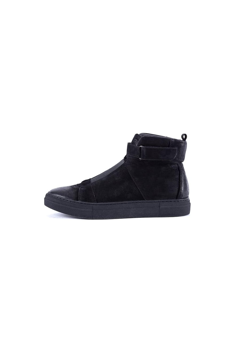 Mens Kruste Hi-Top Sneakers Black Kaviar