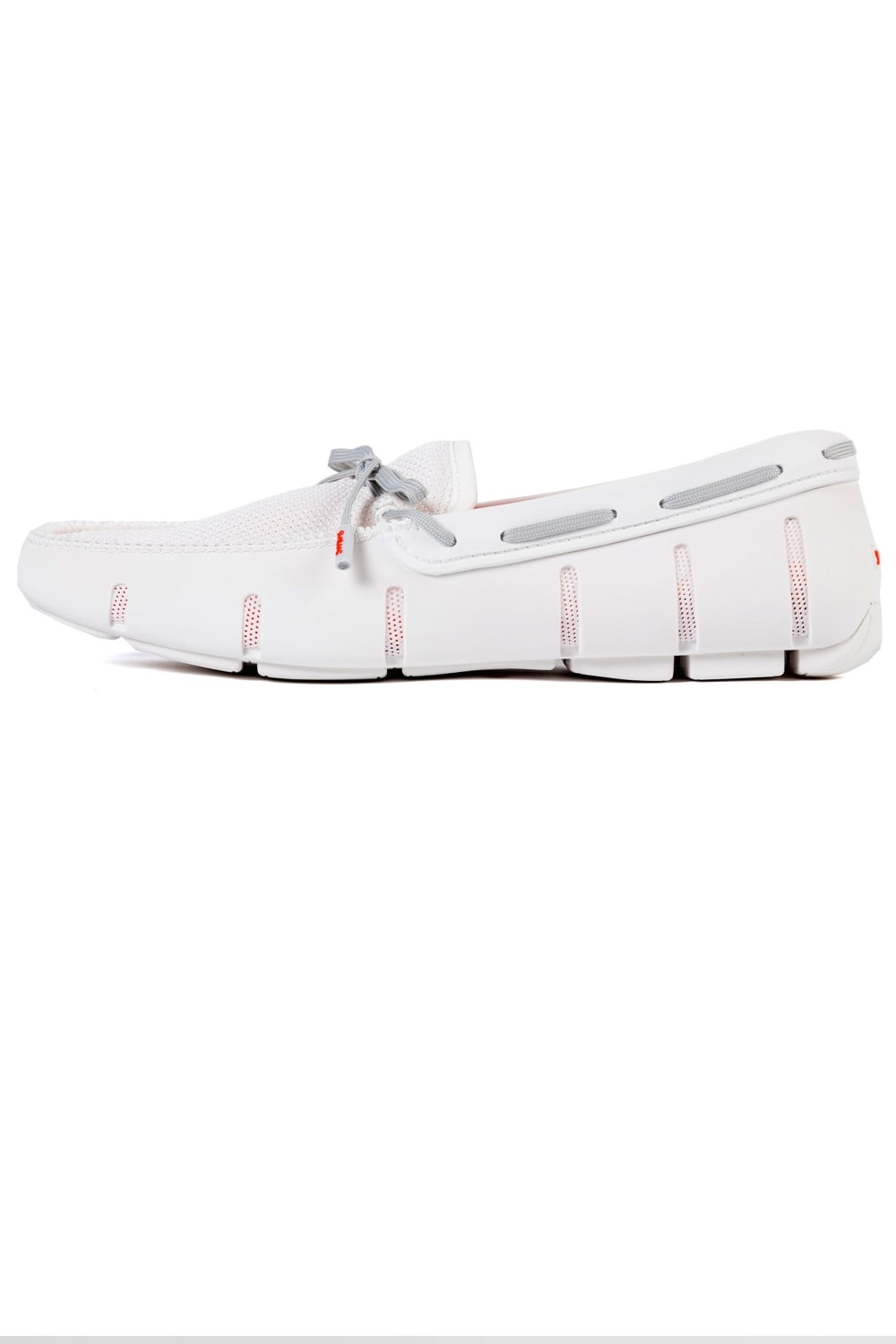 0ca2354003771 Swims | Lace Loafers White/Grey | Intro