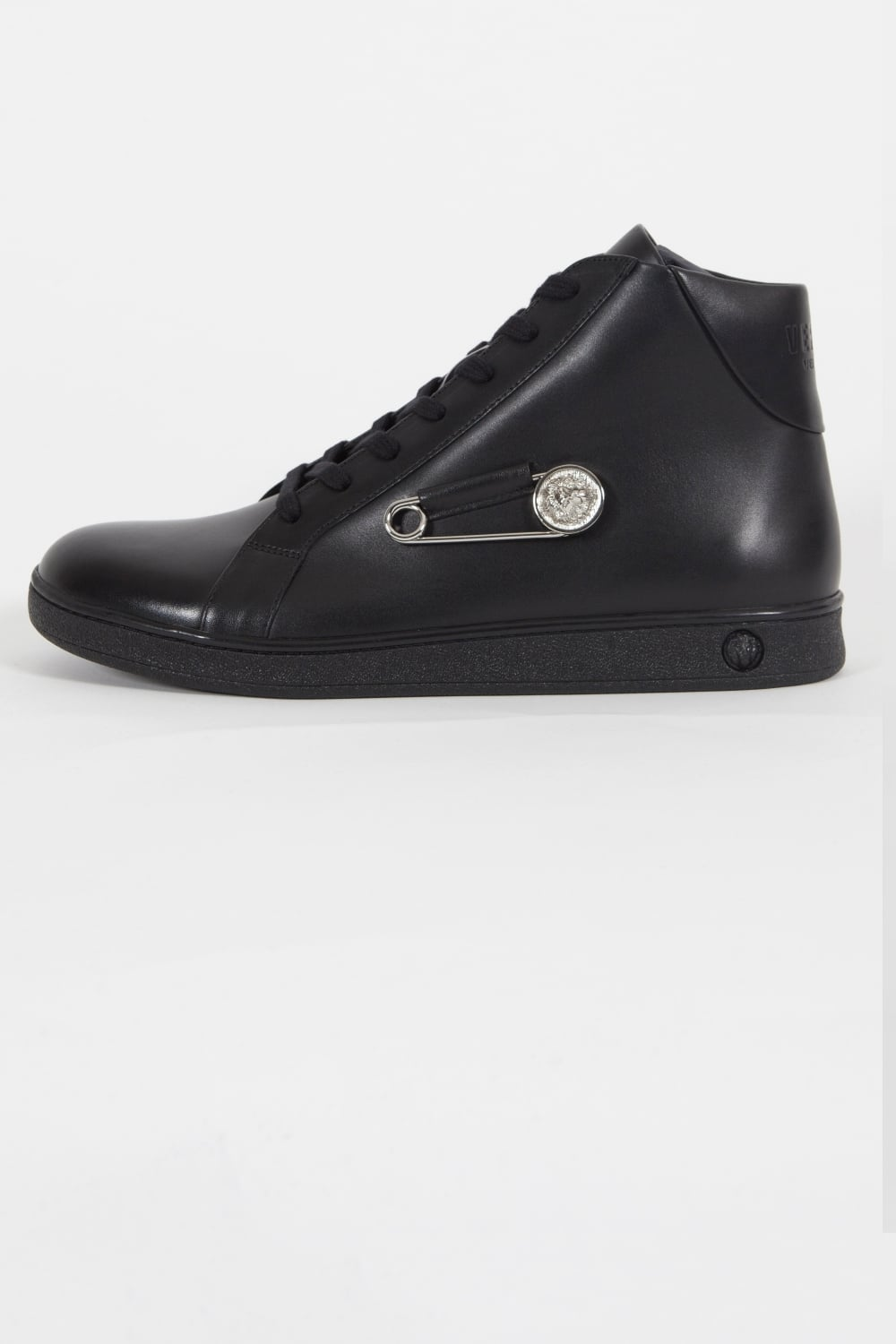 clearance prices limited guantity performance sportswear Versus Versace | Lion & Pin Logo Hi Top Trainers Black | Intro