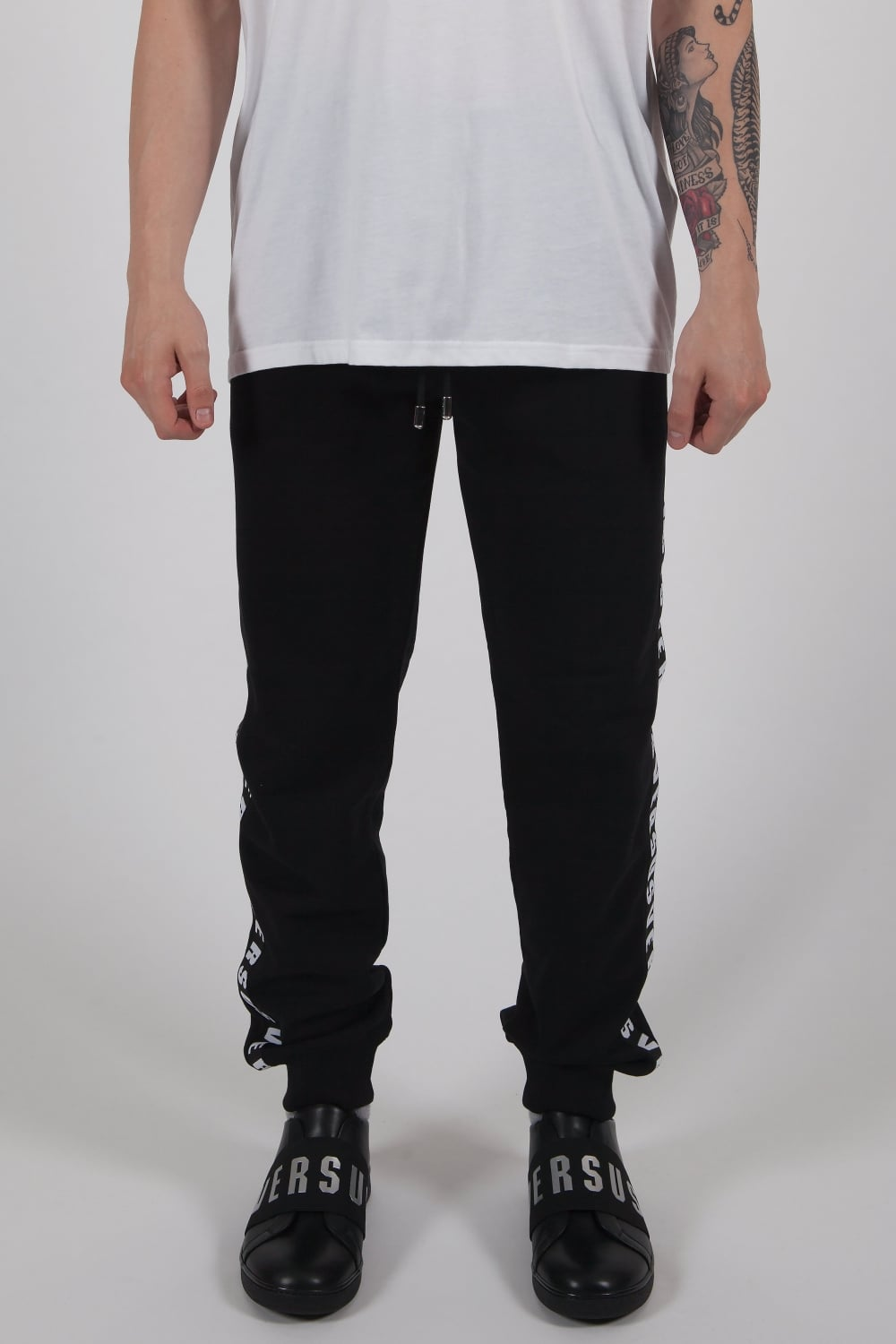 Black Logo Tape Track Pants Versace Buy Cheap Release Dates 2cAFN5be