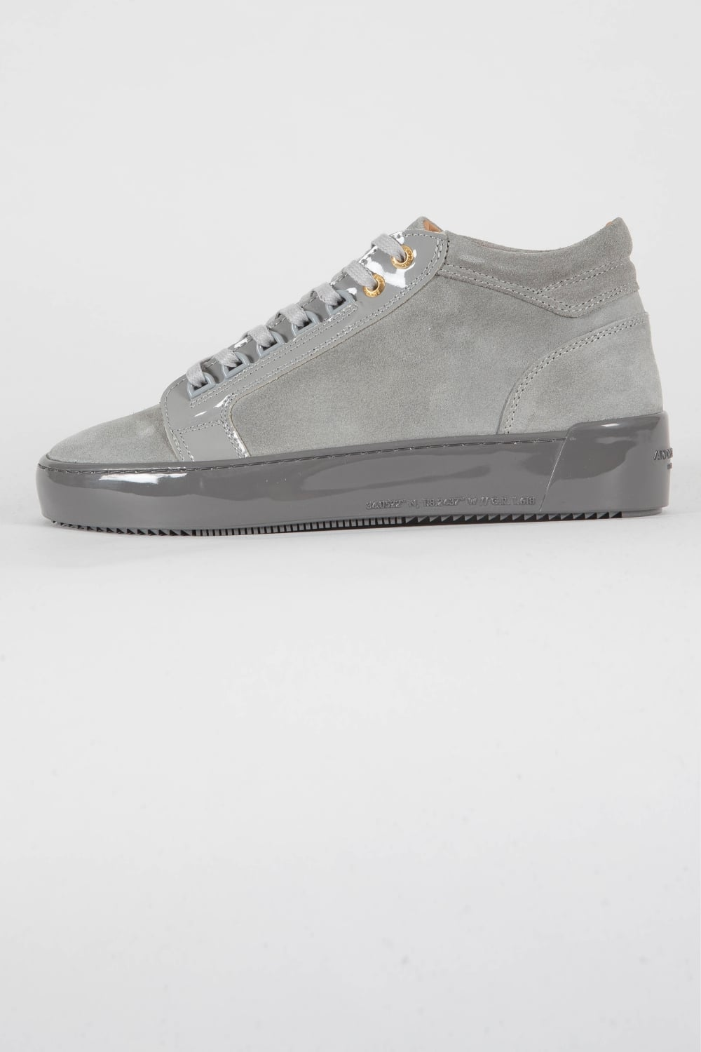 Android Homme Propulsion Mid Suede Trainers Grey Intro