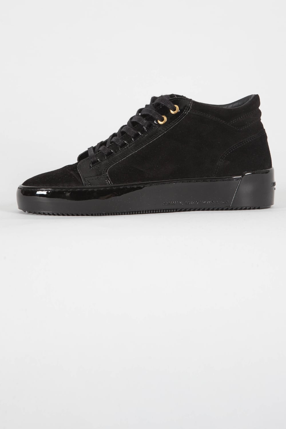 1b34ad701bd Android Homme Propulsion Mid Suede Trainers Black