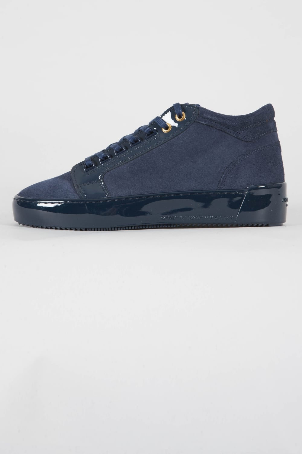 Android Homme Propulsion Mid Suede Trainers Navy Intro