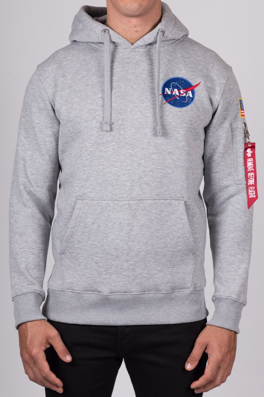 5de2fa192b Alpha Industries Space Shuttle Hoodie Grey - Men's Clothing from ...