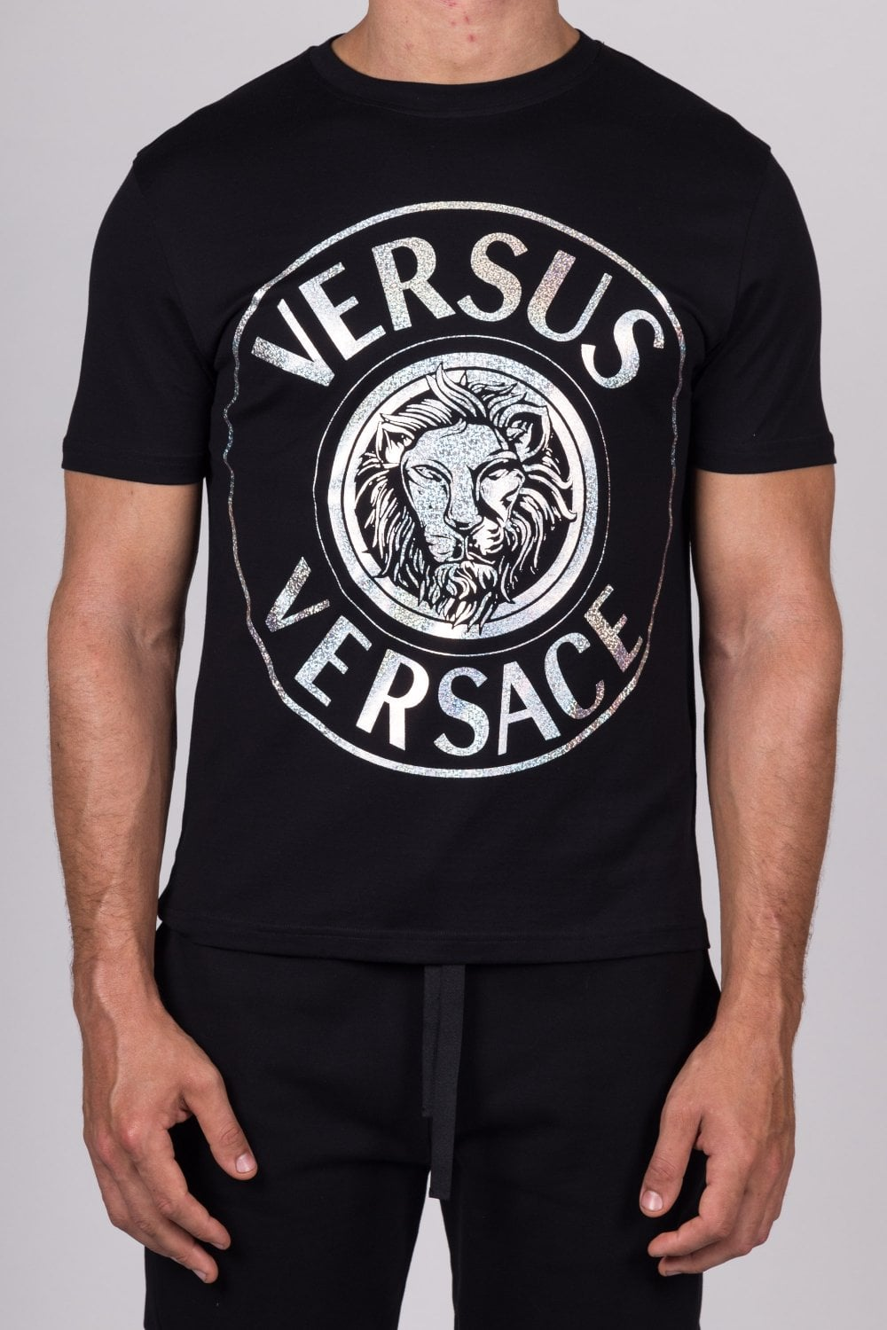 Versus Versace   Lion Logo T-Shirt Black   Intro b74972f00be
