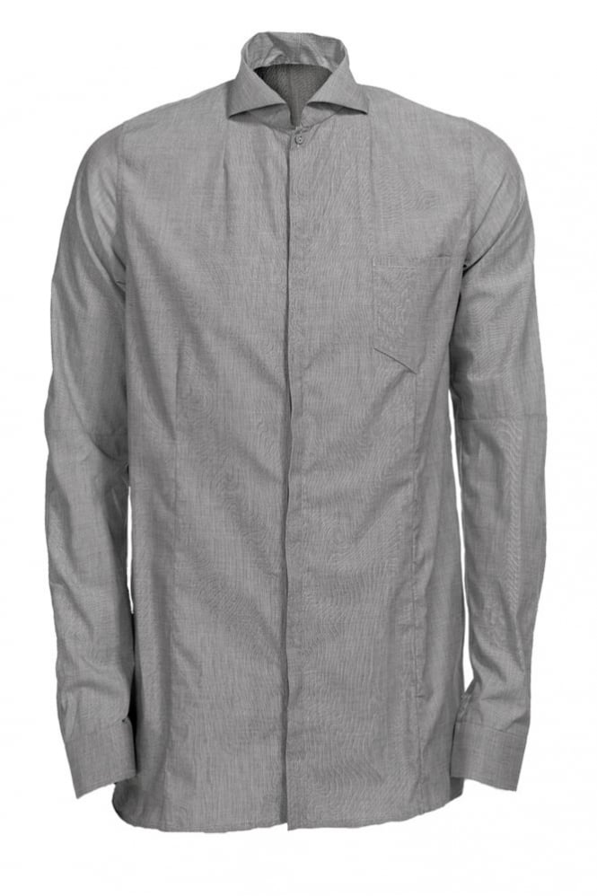 Delusion Burj Hidden Buttons Shirt Grey