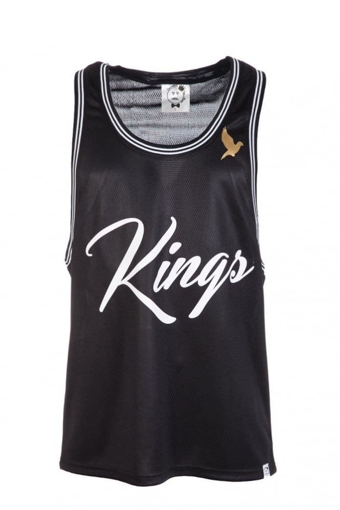 Scribblers Tee Room Kings Basketball Vest Black