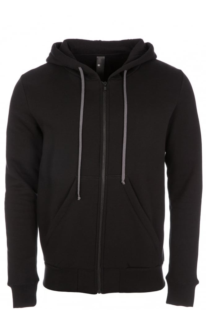 Odeur Zip Hooded Sweatshirt Black
