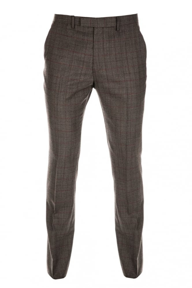 Gibson Check Formal Trouser Taupe