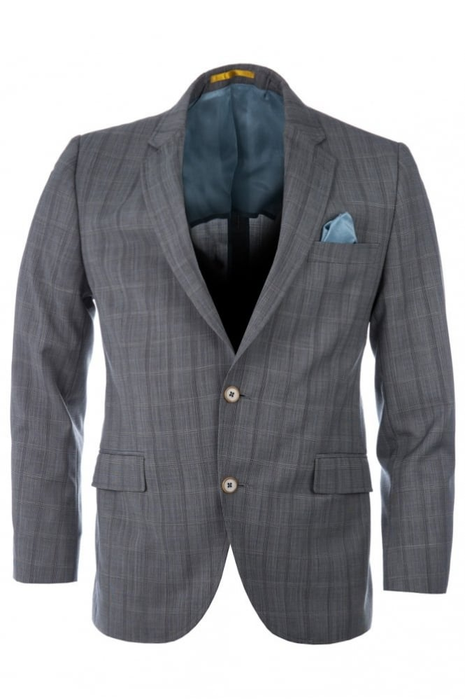Gibson Check 3 Piece Suit Grey