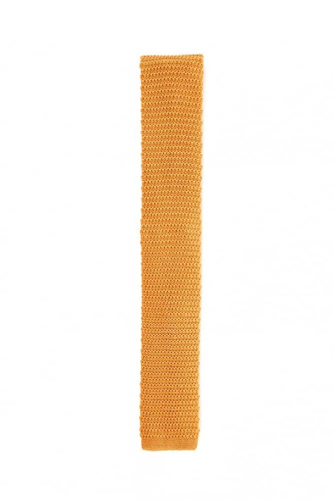 Knightsbridge Neckwear Knitted Silk Tie Gold