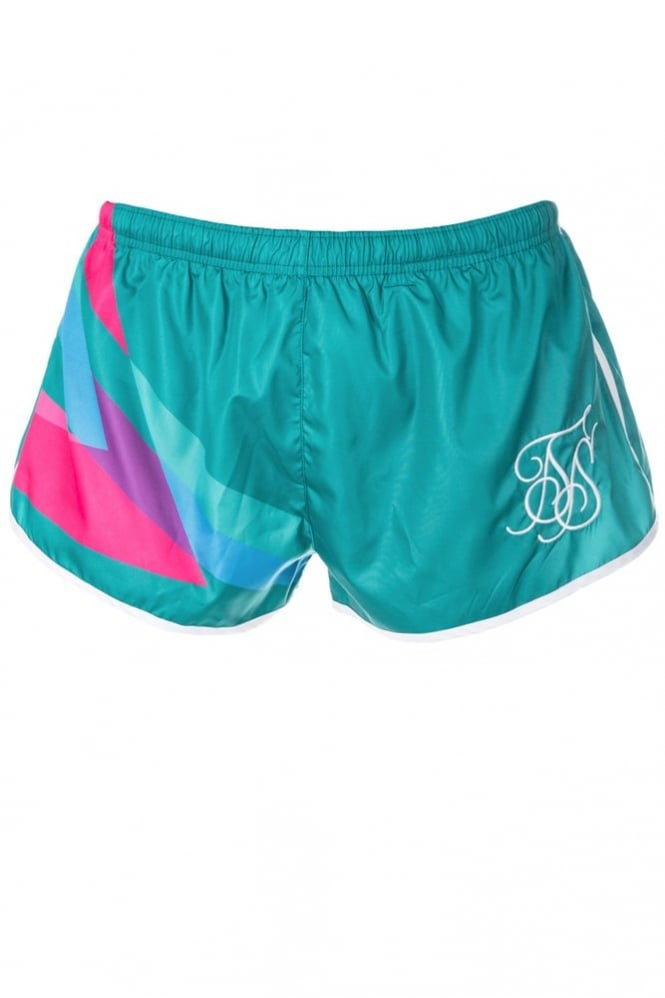 Sik Silk Retro Shorts Green