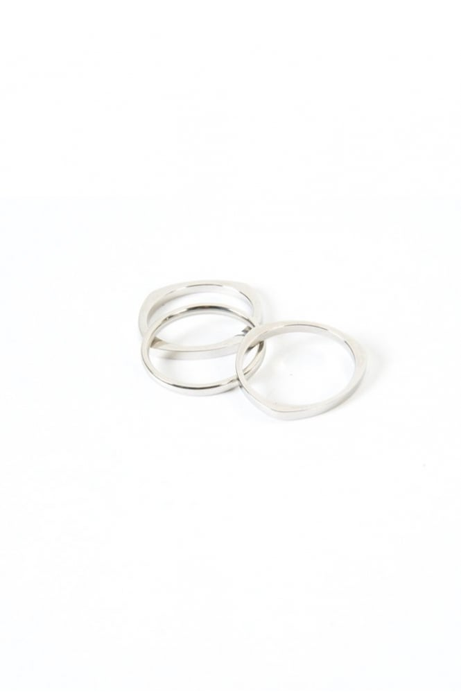 Vitaly Jewellery Shapes Three Ring Set Silver
