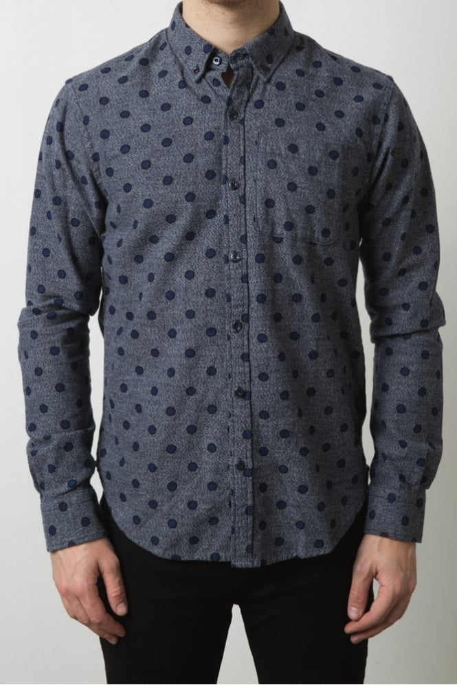 Scotch & Soda Polka Dot Shirt Navy