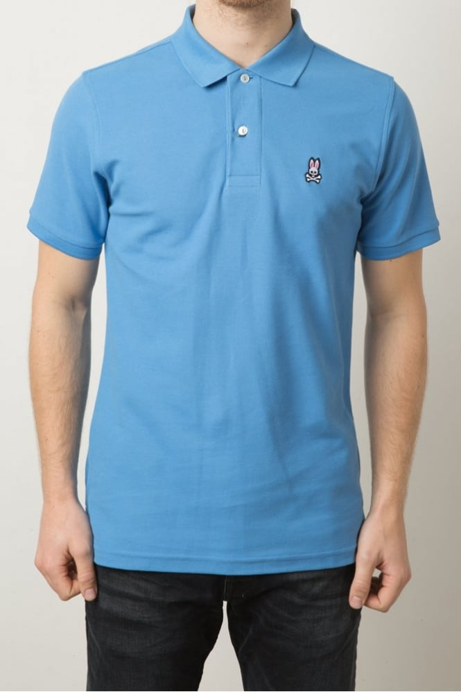 Psycho Bunny Short Sleeve Polo Shirt Blue