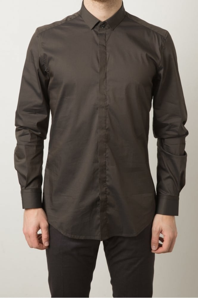 Antony Morato Stud Collar Shirt Dark Green