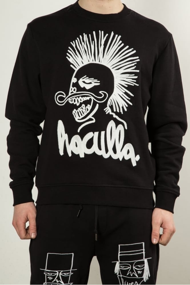 Haculla Punks Not Dead Sweatshirt Black