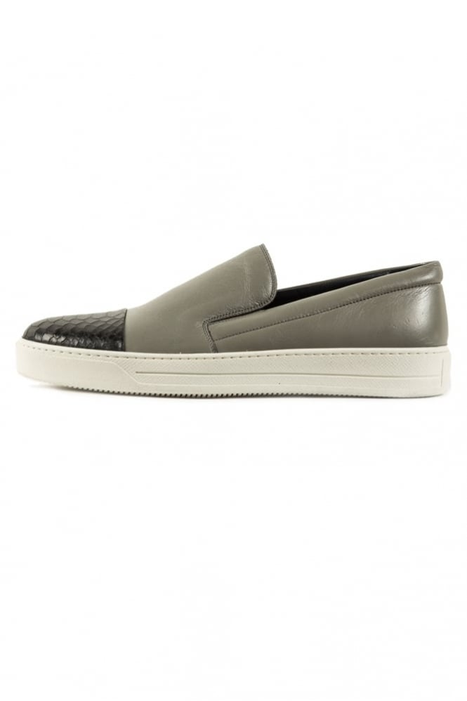Mallet Footwear Python Slip On Shoes Grey