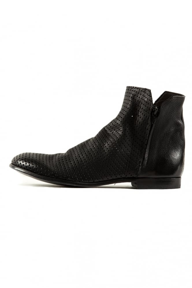 The Last Conspiracy Fjall Perforated Boots Black
