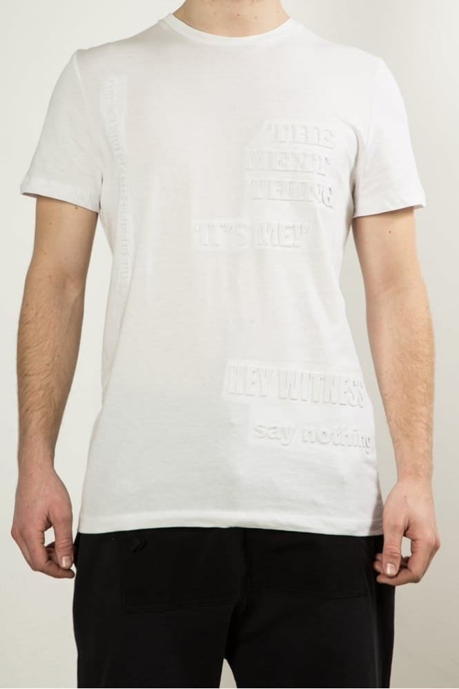 Blood Brother Basis Front Embossing T-Shirt White