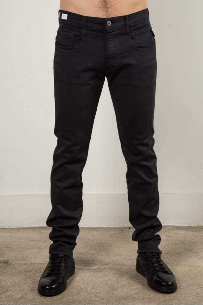 Replay Anbass Skinny Fit Jeans Dark Grey
