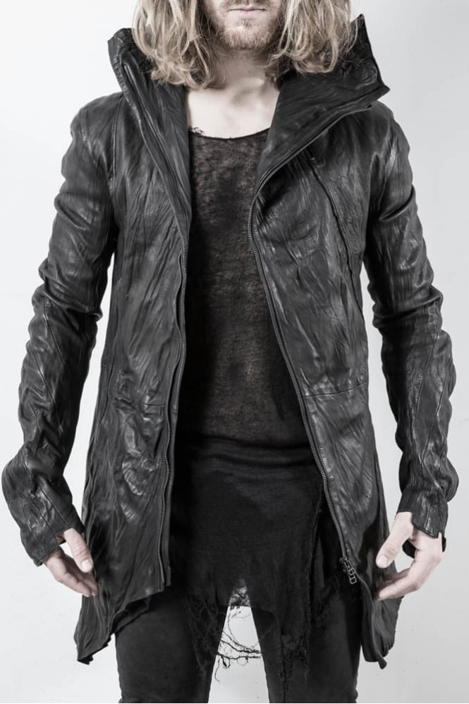 Delusion Methaur Leather Jacket Black