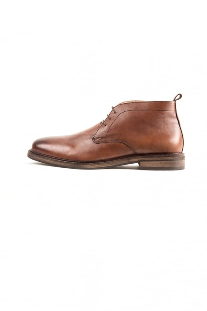 Paolo Vandini Nedging Mid Lace-Up Boots Tan