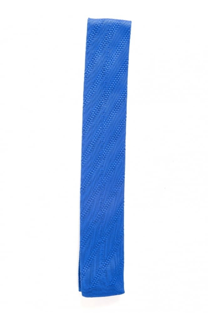 Gibson Knitted Tie Blue