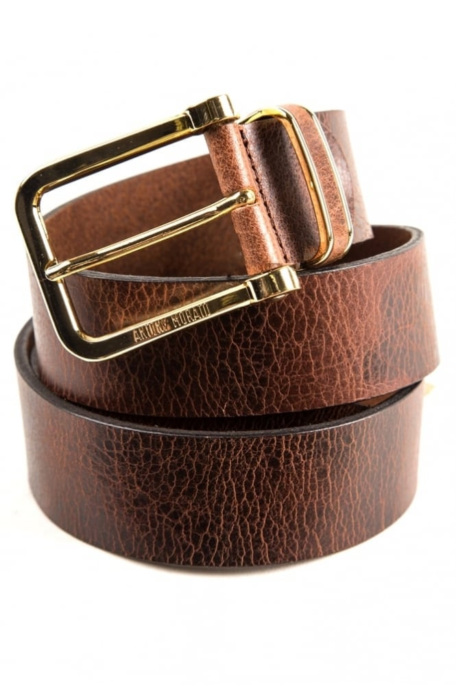 Antony Morato Paris Dakar Leather Belt Brown