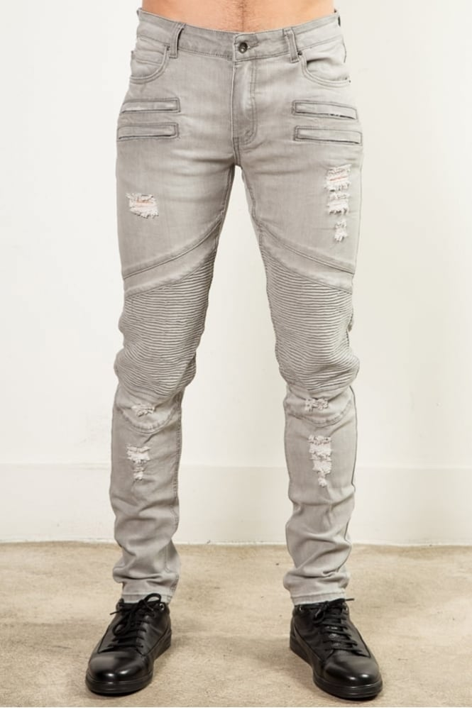 Black Kaviar Gescape Jeans Light Grey