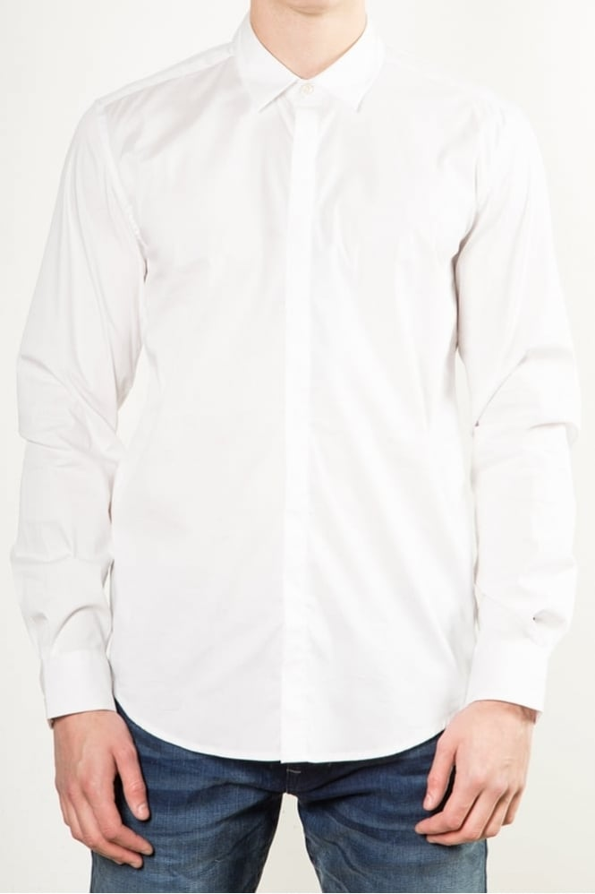 Antony Morato Basic Long Sleeve Shirt White