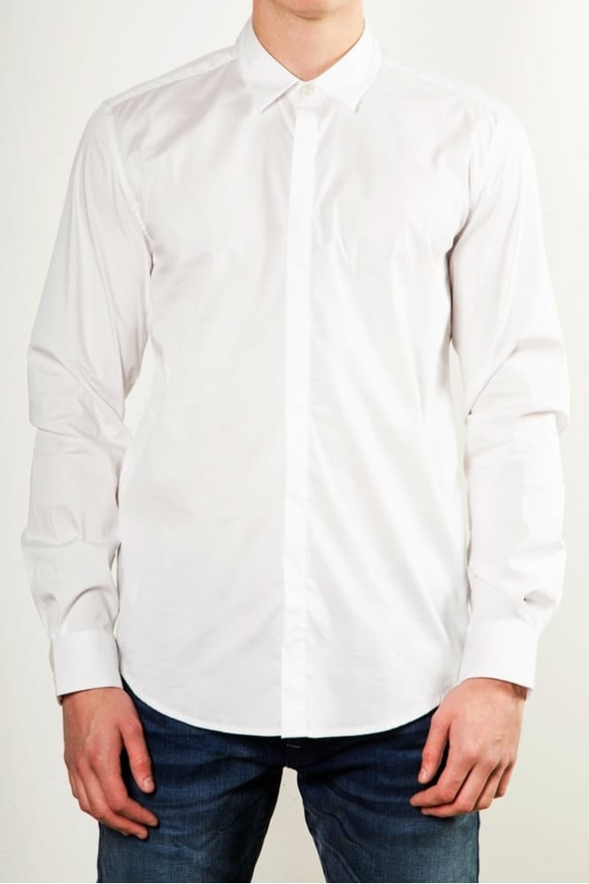 Antony Morato Collar Detail Shirt White