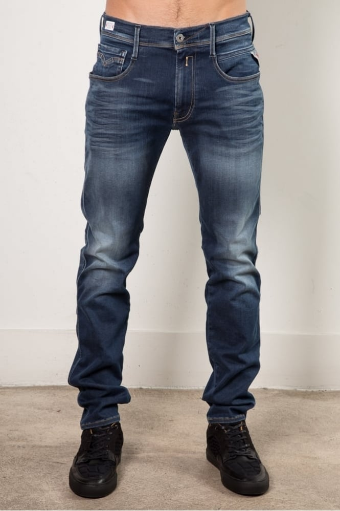 Replay Anbass Skinny Fit Jean Blue