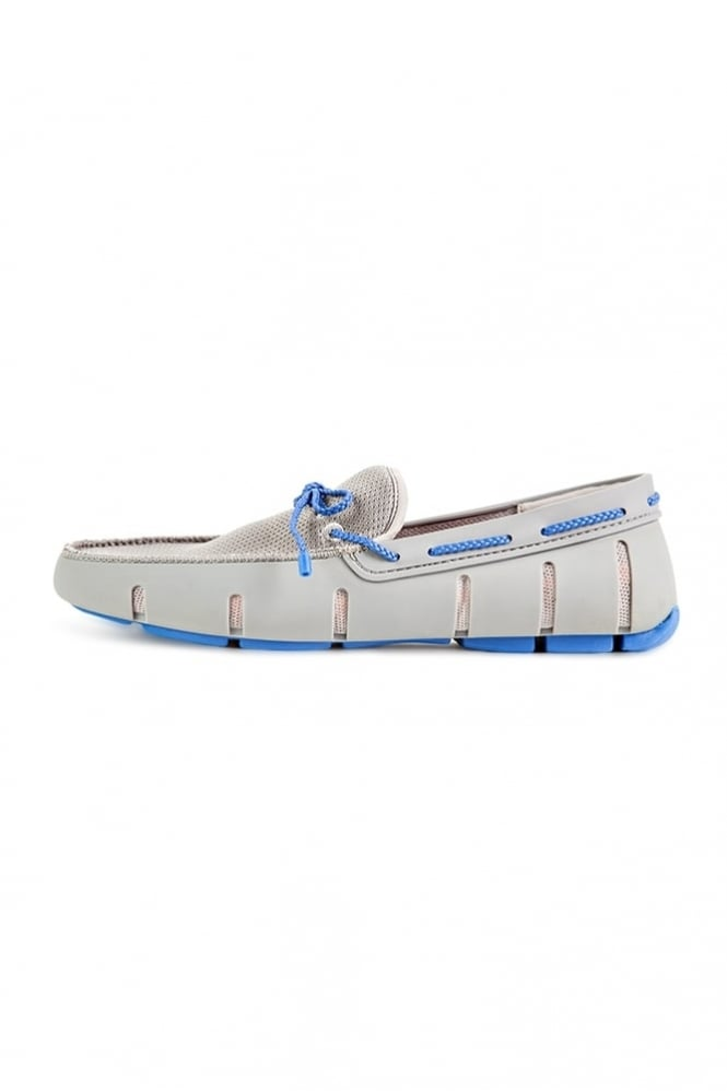 Swims Braided Lace Loafers Grey/Blue