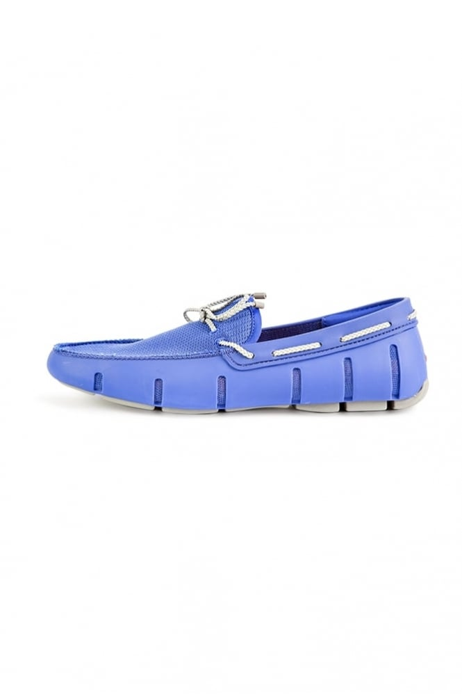 Swims Braided Lace Loafers Royal/Grey